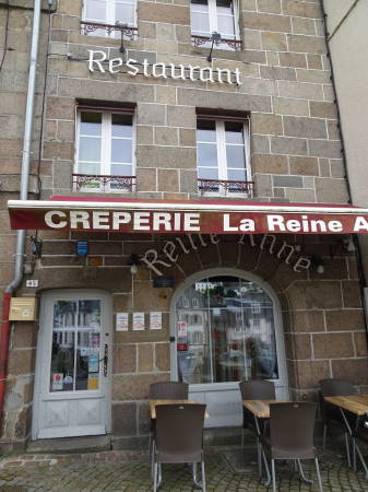 Excellent creperie about 20mins walk from the marina