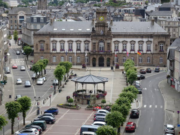 View of the square from the viaduct