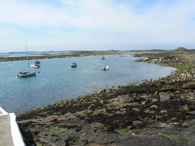Rosaire steps at low water - it all gets covered at high tide